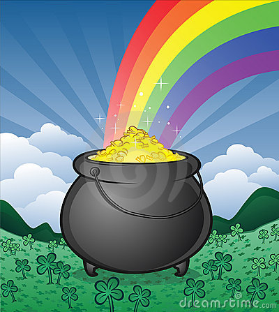 pot-gold-rainbow-clover-patch-17602997